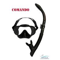 Mascara Y Snorkel De Buceo Aquatek Commando Y Sealth