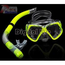 Buceo Scuba Set Lentes + Dry Snorkel Tk0868 Gear Hd2 Nadar
