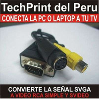 Cable Vga A Rca Y Svideo - Conecta La Pc O Laptop A Tu Tv