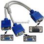 Cable Duplicador Derivador De 1 Vga Macho A 2 Vga Hembra