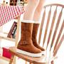 Calzado Mujer Botas Acolchadas Plataforma Interna