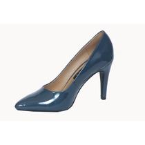 Zapato Charol Mujer Modelo Reina Color Acero - Calzado Dama