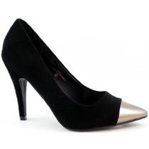 Zapatos En Punta Taco 9cm Importado Rojo Negro 8 38 Stock