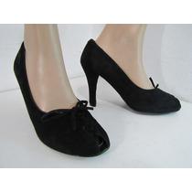 Zapatos Anne Michelle Gamuza Negra Talla 38 Envío Gratis¡¡
