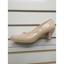 Zapato Calzado Reyna Charol Color Nude. Taco 5,7,9,12.
