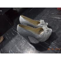 Vendo Zapato De Fiesta Color Plateado
