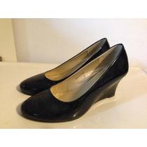 Zapatos Negros De Charol Talla 38 (37.5) Taco 5 Marca Atrium