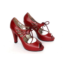 Zapatos Cuero Milano Bags Color Rojos
