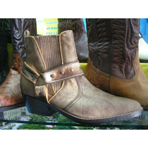 Botas Piel Becerro, Calzado Texanos Zapatos Hombre Vestir