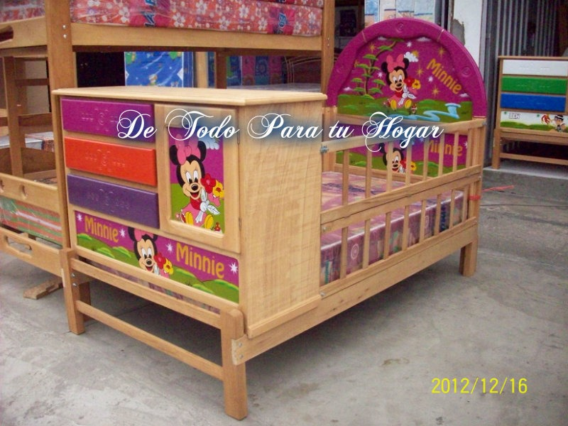 Cama cuna plaza y media con barandas s 475 00 en for Futon cama 1 plaza y media
