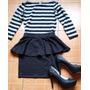 Crop Corto+ Mini Falda Cintura Tendencia Primavera Talla S/m