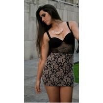 Falda Cintura Encaje Strech Lace Skirt Talla S/m Otoño 2015