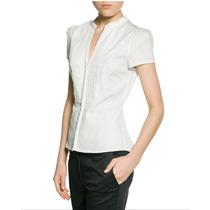 Blusa Marca Mango Color Blanca