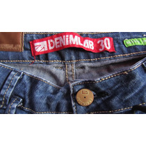 Jean Denimlab Original Talla 30 Grande Strech Dama Poco Uso