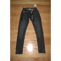 Pantalon Nuevo Jean Importado Skinny Pitillo Dama 1 Xs Stock