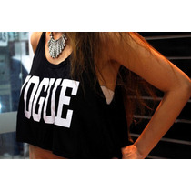 Crop Top Vogue Printed Importado T= S/m Regalo San Valentin