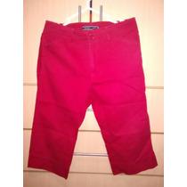 Pantalon Snicker Chavito Capri Rojo Talla S-m Marca Newport