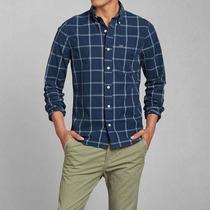 Camisa Abercrombie & Fitch Scocesa Algodón Importado Eeuu M