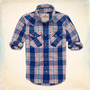 Camisa Hollister First Point - Azul Naranja - Talla M