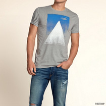 Polo Hollister Con Estampado Boat Canyon Talla M