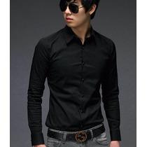 Camisas Entalladas Slim Fit, Moda Coreana, Algodon