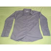 Remato Camisas Usadas, Talla Mediana, Color Plomo Y Azul.