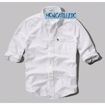 Abercrombie & Fitch Camisa Oxford Color Blanco Talla L