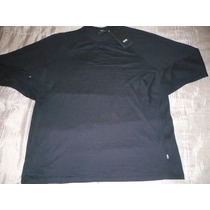 Polo-8 Manga Larga Hugo Boss, ( Negro ) : Talla X L