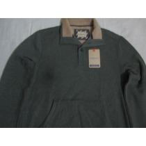 G H Bass & Co Polera Verde Small Cuello Camisa Nuevo Usa