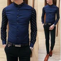 Camisas Entalladas Slim Fit, Alta Calidad Algodon ,casual