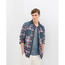 Remato Camisa De Jean Por Zara Traida De España, 100%