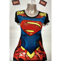 Polo Modelo Superman Girl Logo En Alto Relieve ( Viscosa Con