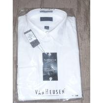 Camisa Van Heusen Manga Larga Blanca Con Diseño : Talla 16