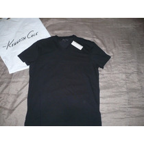 Polo Kenneth Cole Cuello V ( Negro ) : Talla M