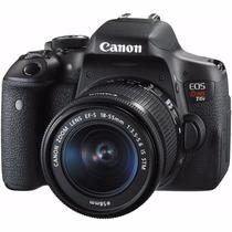Canon- Camara Eos Rebel T6i Dslr 18-55mm - Negro