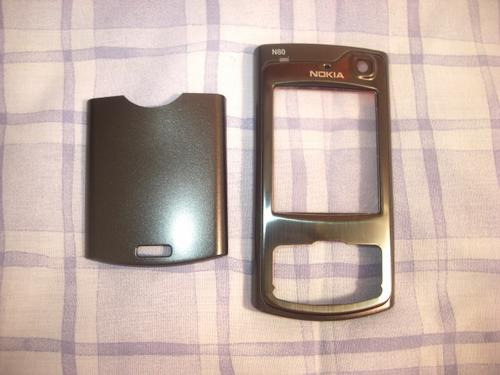 Carcasa Cover Nokia N80 Original Stock Metal Negro Black
