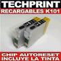Set 2 Cartuchos Recargables Autoreset Epson K101 Con Tinta