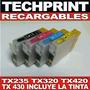Set 4 Cartuchos Recargables Autoreset Tx235 Tx320 Tx420 /430