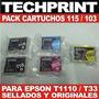 Pack De Cartuchos Originales Epson T1110 T33 Codigo 115 103