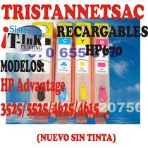 Recargables Hp670 Advantage 3525/5525/4625/4615