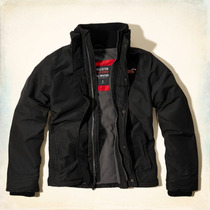 Casaca Hollister All Weather, Talla: L, Negro