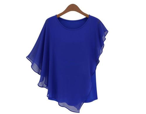 Como hacer una blusa de chifon de moda - Imagui