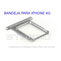 Bandeja Porta Chip Sim Tray Para Iphone 4g Repuesto
