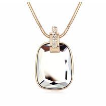 Collar Enchapado En Oro De 18k Y Cristal De Zircon