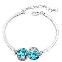 Oferta Pulsera Brazalete Swarovski Elements Crystal Azul M1