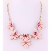 Collar Flores Variedad De Colores Pastel Importado En Stock