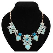 Lindo Collar Maxi Azul Y Celeste Importado En Stock Elle851