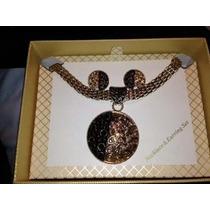 Collar, Pulsera Y Aretes De Perlas Con Swarovsky