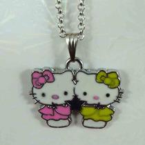 Hello Kitty Collares Colgantes Dijes De Metal Esmaltado
