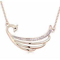 Collar Enchapado En Oro De 18k Con Finos Cristales